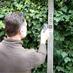 scanning a QR code on the South Downs